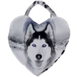 Wolf Moon Mountains Giant Heart Shaped Tote