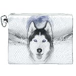Wolf Moon Mountains Canvas Cosmetic Bag (XXL)