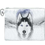 Wolf Moon Mountains Canvas Cosmetic Bag (XXXL)