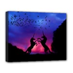 Unicorn Sunset Deluxe Canvas 20  x 16  (Stretched)