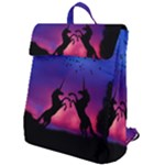 Unicorn Sunset Flap Top Backpack