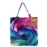 Water Paint Grocery Tote Bag