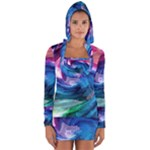 Water Paint Long Sleeve Hooded T-shirt