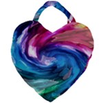 Water Paint Giant Heart Shaped Tote