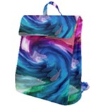 Water Paint Flap Top Backpack