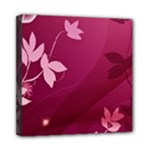 Pink Flower Art Mini Canvas 8  x 8  (Stretched)