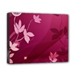 Pink Flower Art Canvas 10  x 8  (Stretched)