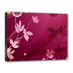 Pink Flower Art Canvas 16  x 12  (Stretched)