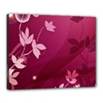 Pink Flower Art Canvas 20  x 16  (Stretched)