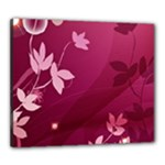 Pink Flower Art Canvas 24  x 20  (Stretched)