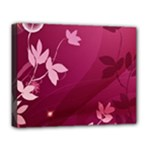 Pink Flower Art Deluxe Canvas 20  x 16  (Stretched)