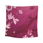 Pink Flower Art Square Tapestry (Small)