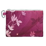 Pink Flower Art Canvas Cosmetic Bag (XL)