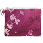 Pink Flower Art Canvas Cosmetic Bag (XXL)