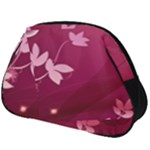 Pink Flower Art Full Print Accessory Pouch (Big)