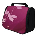 Pink Flower Art Full Print Travel Pouch (Small)