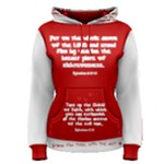 Womens Scripture Wear Pullover Red w white fliped Women s Pullover Hoodie
