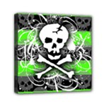 Deathrock Skull Mini Canvas 6  x 6  (Stretched)