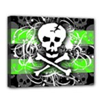 Deathrock Skull Canvas 14  x 11  (Stretched)