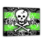 Deathrock Skull Canvas 16  x 12  (Stretched)