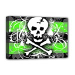 Deathrock Skull Deluxe Canvas 18  x 12  (Stretched)