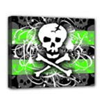 Deathrock Skull Deluxe Canvas 20  x 16  (Stretched)