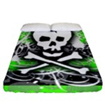 Deathrock Skull Fitted Sheet (Queen Size)