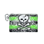 Deathrock Skull Canvas Cosmetic Bag (Small)