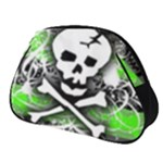 Deathrock Skull Full Print Accessory Pouch (Small)