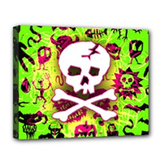 Deathrock Skull & Crossbones Deluxe Canvas 20  x 16  (Stretched) from ArtsNow.com