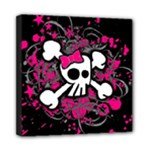 Girly Skull & Crossbones Mini Canvas 8  x 8  (Stretched)