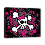 Girly Skull & Crossbones Canvas 10  x 8  (Stretched)