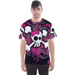 Girly Skull & Crossbones Men s Sports Mesh Tee