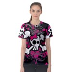 Girly Skull & Crossbones Women s Sport Mesh Tee