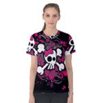 Girly Skull & Crossbones Women s Cotton Tee