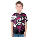 Girly Skull & Crossbones Kids  Cotton Tee