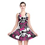 Girly Skull & Crossbones Reversible Skater Dress