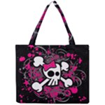 Girly Skull & Crossbones Mini Tote Bag