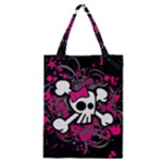 Girly Skull & Crossbones Classic Tote Bag