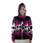 Girly Skull & Crossbones Women s Hooded Windbreaker