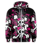 Girly Skull & Crossbones Men s Zipper Hoodie