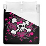 Girly Skull & Crossbones Duvet Cover (Queen Size)