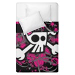Girly Skull & Crossbones Duvet Cover Double Side (Single Size)