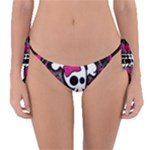 Girly Skull & Crossbones Reversible Bikini Bottom