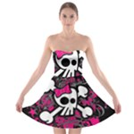 Girly Skull & Crossbones Strapless Bra Top Dress