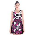 Girly Skull & Crossbones Scoop Neck Skater Dress