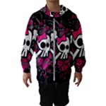 Girly Skull & Crossbones Kids  Hooded Windbreaker