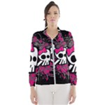 Girly Skull & Crossbones Women s Windbreaker