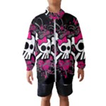 Girly Skull & Crossbones Kids  Windbreaker