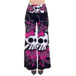 Girly Skull & Crossbones So Vintage Palazzo Pants